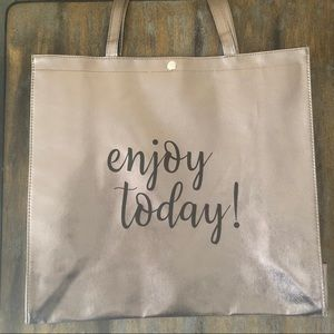 Enjoy Today! Silver Tote